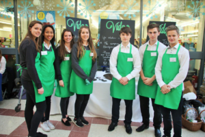 Young Enterprise team with their stand